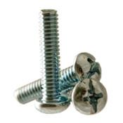 "#8-32x3/8"" F/T Machine Screw Round Head Phillips/Slotted Combo Zinc Cr+3 (8,000/Bulk Pkg.)"