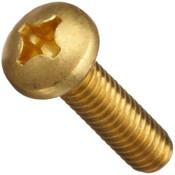 "#10-24x1-1/2"" Phillips Pan Head Brass Machine Screw (100/Pkg.)"