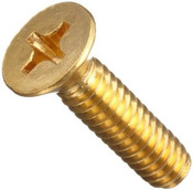 "#8-32x1"" Phillips Flat Head Machine Screw Brass (100/Pkg.)"