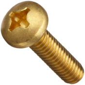 "#8-32x2"" Phillips Pan Head Brass Machine Screw (100/Pkg.)"
