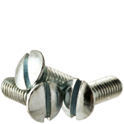 "#10-24x1"" F/T Machine Screw Oval Head Slotted Coarse Zinc Cr+3 (100/Pkg.)"