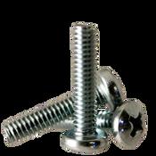 """#6-32x1/4"""" F/T Machine Screw Pan Head Phillips Zinc Cr+3 (25,000/Bulk Pkg.)"""