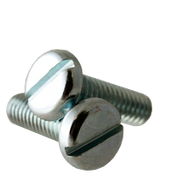 "1/4""-20x1"" F/T Machine Screw Pan Head Slotted Zinc Cr+3 (2,500/Bulk Pkg.)"