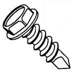 "#10-16x1"" Indented Hex Washer Head, #3 Point Proferred Self Drilling Screw W/Bonded Washer, Zinc Cr+3 (3,000/Bulk Pkg.)"