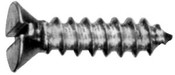 """#4-24x1/4"""" Flat Slotted Tapping Screws Type AB Zinc Cr+3 (100/Pkg.)"""