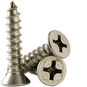 """#8x3/8"""" F/T Self-Tapping Screws Phillips Flat Head Type A 18-8 A2 Stainless Steel (100/Pkg.)"""