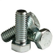 "1""-8x8"" Partially Threaded Hex Bolts A307 Grade A Coarse Zinc Cr+3 (30/Bulk Pkg.)"