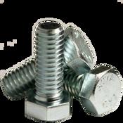 """1/2""""-13x11"""" 6"""" Thread Hex Bolts A307 Grade A Zinc Cr+3 (5/Pkg.)"""