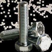 """1/4""""-20x1-1/4"""" Fully Threaded Hex Tap Bolt A307 Grade A Coarse Low Carbon Zinc Cr+3 (100/Pkg.)"""