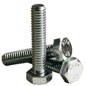 "1/4""-20x4"" Fully Threaded Hex Tap Bolt A307 Grade A Coarse Low Carbon Zinc Cr+3 (100/Pkg.)"