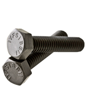 "1/4""-20x4-1/2 Fully Threaded Grade 5 Hex Tap Bolts Med. Carbon Zinc Cr+3 (50/Pkg.)"