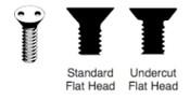 "10-24 X 3/8 Undercut Flat Head ""Snake Eyes"" Spanner Machine Screw, 18-8 Stainless Steel (100/Pkg.)"