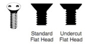 "12-24 X 1/2 Undercut Flat Head ""Snake Eyes"" Spanner Machine Screw, 18-8 Stainless Steel (100/Pkg.)"