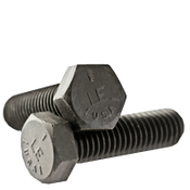 "1/2""-20x1-1/4"" Fully Threaded Hex Cap Screws Grade 5 Fine Med. Carbon  Plain (USA) (375/Bulk Pkg.)"