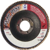 "Type 27 High Density Aluminum Oxide Flap Discs - 4-1/2"" x 7/8"", Grit: 120, Mercer Abrasives 260120 (10/Pkg.)"