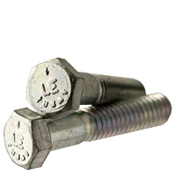 "1""-14x3"" Fully Threaded Hex Cap Screws Grade 5 Fine(UNS) Med. Carbon Zinc CR+3 (USA) (40/Bulk Pkg.)"