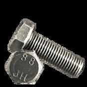M8-1.25x55 MM (FT) Hex Cap Screws 8.8 DIN 933 / ISO 4017 Coarse Med. Carbon Plain (800/Bulk Pkg.)