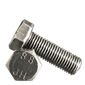 M10-1.25x35 MM Fully Threaded Hex Cap Screws 8.8 DIN 961 Fine Med. Carbon Plain (100/Pkg.)