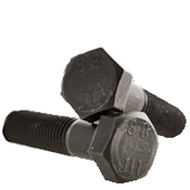 M10-1.25x45 MM Partially Threaded Hex Cap Screws 8.8 DIN 960 Fine Med. Carbon Plain (100/Pkg.)