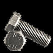 M24-3.00x55 mm Fully Threaded Hex Cap Screws 8.8 DIN 933 / ISO 4017 Coarse Med. Carbon Plain (65/Bulk Pkg.)