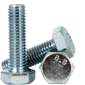 M16-2.00x90 mm (PT) DIN 931 / ISO 4014 Hex Cap Screws 8.8 Coarse Med. Carbon Zinc CR+3 (100/Bulk Pkg.)