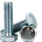 M8-1.25x90 mm (PT) DIN 931 / ISO 4014 Hex Cap Screws 8.8 Coarse Med. Carbon Zinc CR+3 (450/Bulk Pkg.)