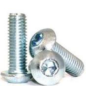 "1/4""-28x3/4"" (FT) Button Socket Cap Fine Alloy Zinc-Bake Cr+3 (2,500/Bulk Pkg.)"
