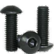 """#0-80x3/8"""" Fully Threaded Button Socket Caps Fine Alloy Thermal Black Oxide (1,000/Bulk Pkg.)"""