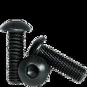 M12-1.75x40 MM (FT) Button Socket Caps 12.9 Coarse Alloy ISO 7380 Thermal Black Oxide (300/Bulk Pkg.)