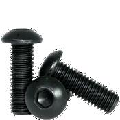 M6-1.00x35 MM (FT) Button Socket Caps 12.9 Coarse Alloy ISO 7380 Thermal Black Oxide (1,500/Bulk Pkg.)