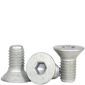 """1/4""""-20x1/2"""" Fully Threaded Flat Socket Cap Coarse Alloy Mechanical Zinc (500/Bulk Pkg.)"""