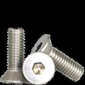 """#8-32x7/8"""" (FT) Flat Socket Caps Coarse 18-8 Stainless (2,500/Bulk Pkg.)"""