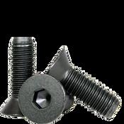 "#8-32x1/2"" (FT) Flat Socket Caps Coarse Alloy Thermal Black Oxide (2,500/Bulk Pkg.)"