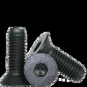 "#8-32x2-1/4"" (PT) Flat Socket Caps Coarse Alloy Thermal Black Oxide (2,500/Bulk Pkg.)"