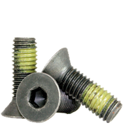 "#8-32x5/8"" Fully Threaded Flat Socket Caps Coarse Alloy w/ Nylon-Patch Thermal Black Oxide (1,000/Bulk Pkg.)"