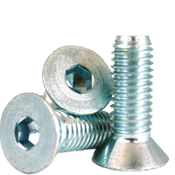 "#4-40x5/8"" (FT) Flat Socket Cap Coarse Alloy Zinc-Bake Cr+3 (2,500/Bulk Pkg.)"