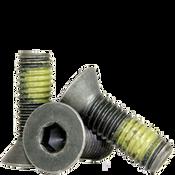 "#10-32x1/2"" (FT) Flat Socket Cap Screws Fine Alloy w/ Nylon-Patch Thermal Black Oxide (1,000/Bulk Pkg.)"