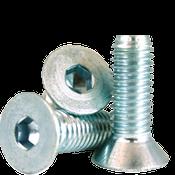"""1/4""""-20x3/4"""" Fully Threaded Flat Socket Cap Coarse Alloy Zinc-Bake Cr+3 (2,500/Bulk Pkg.)"""