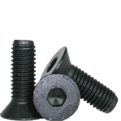 "7/16""-14x3-1/2"" Partially Threaded Flat Socket Caps Coarse Alloy Thermal Black Oxide (150/Bulk Pkg.)"
