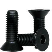 M12-1.75x50 MM Fully Threaded Flat Socket Caps 12.9 Coarse Alloy DIN 7991 Thermal Black Oxide (300/Bulk Pkg.)