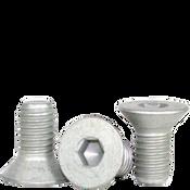 """#10-24x1"""" (FT) Flat Socket Cap Coarse Alloy Mechanical Zinc (1,000/Bulk Pkg.)"""
