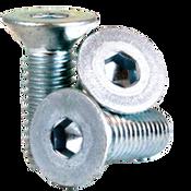 M5-0.80x20 MM Fully Threaded Flat Socket Cap 12.9 Coarse Alloy Zinc-Bake CR+3 (2,500/Bulk Pkg.)