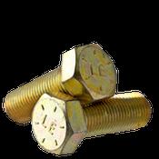 "1/4""-28x2-3/4"" Partially Threaded Hex Cap Screws Grade 8 Fine Zinc-Yellow Bake CR+3 (USA) (750/Bulk Pkg.)"