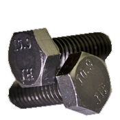 M8-1.25x70 MM (FT) Hex Cap Screws 10.9 DIN 933 Coarse Alloy Plain (600/Bulk Pkg.)