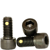 "1/2""-13x3"" Partially Threaded Socket Head Cap Screws Coarse Alloy Nylon-Pellet Thermal Black Oxide (100/Bulk Pkg.)"
