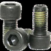 "3/8""-24x1-3/4"" Partially Threaded Socket Head Cap Screws Fine Alloy Nylon-Patch Thermal Black Oxide (200/Bulk Pkg.)"