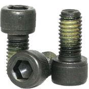 "1/4""-28x1/2"" Fully Threaded Socket Head Cap Screws Fine Alloy Nylon-Patch Thermal Black Oxide (500/Bulk Pkg.)"