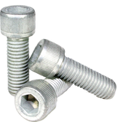 """1/4""""-20x3/4"""" Fully Threaded Socket Head Cap Screws Coarse Alloy Mechanical Zinc (500/Bulk Pkg.)"""