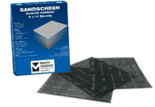 Silicon Carbide Sandscreen Sandpaper Sheets 9 x 17, Grit: 320, Mercer Abrasives 210320 (25/Pkg.)