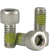 "#10-32x3/8"" (FT) Socket Head Cap Screws Fine 18-8 Stainless w/ Nylon-Patch (1,000/Bulk Pkg.)"
